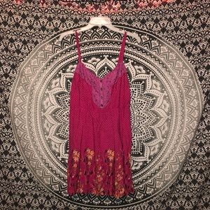 💗FREE PEOPLE💗 Adorable Pink Tunic! Like new!💞🌸